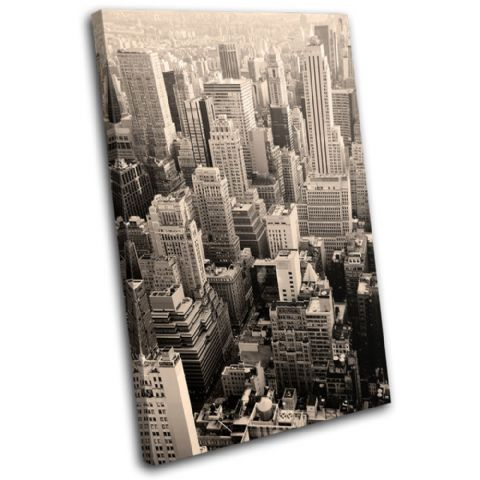 New York Skyline Sepia City - 13-0136(00B)-SG32-PO
